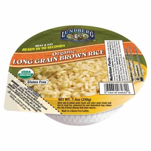 Lundberg Organic Long Grain Brown Rice Bowl Perspective: front