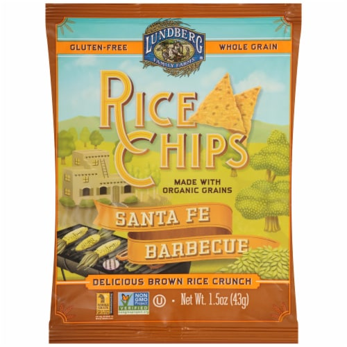 Lundberg Gluten Free Santa Fe Barbecue Rice Chips Perspective: front