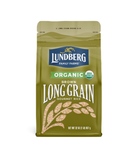Lundberg Organic Brown Long Grain Rice Perspective: front