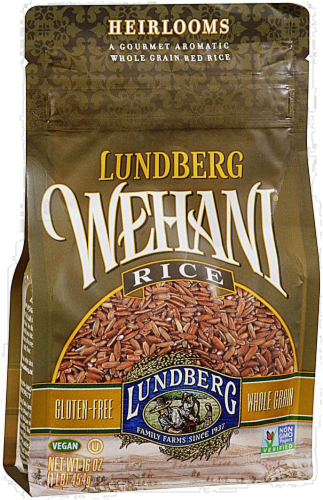 Lundberg Wehani Whole Grain Red Rice Perspective: front