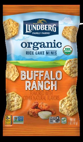 Lundberg Family Farms Organic Gluten-Free Buffalo Ranch Rice Cake Minis Perspective: front