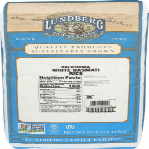 Lundberg Eco-Farmed California White Basmati Rice Perspective: front