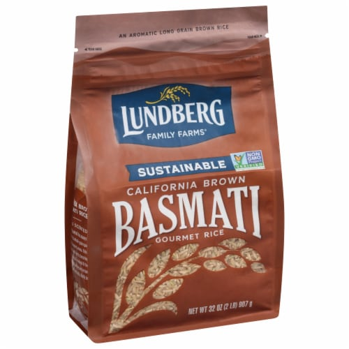 Lundberg California Brown Basmati Whole Grain Rice Perspective: front