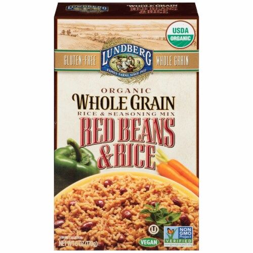 Lundberg Organic Red Beans & Rice Seasoning Mix Perspective: front
