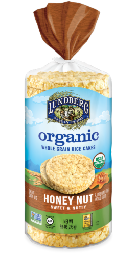 Lundberg Honey Nut Organic Rice Cakes Perspective: front