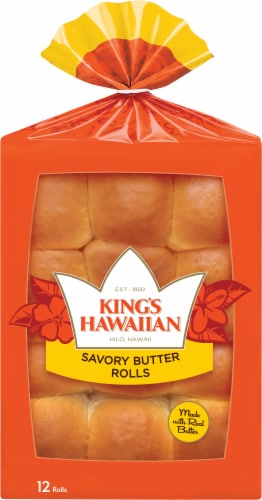 King's Hawaiian Savory Butter Rolls Perspective: front