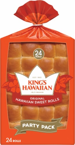 King's Hawaiian Original Hawaiian Sweet Rolls Party Pack 24 Count Perspective: front