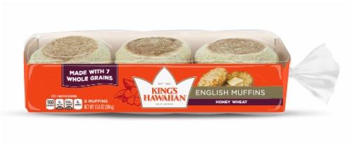 King's Hawaiian Honey Wheat English Muffin Perspective: front