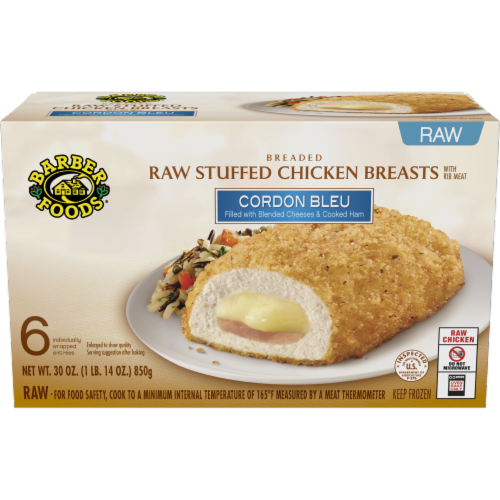 Marianos Barber Foods Stuffed Cordon Bleu Chicken Breasts