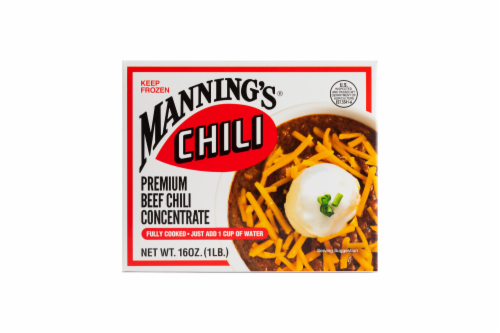 Manning's Premium Beef Chili Concentrate Perspective: front