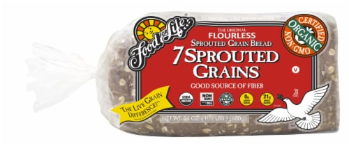 Food for Life 7 Sprouted Grains Bread Perspective: front