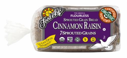 Food For Life Cinnamon Raisin Bread Perspective: front