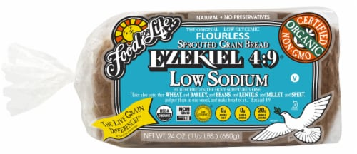 For for Life Ezekiel 4:9 Low Sodium Sprouted Grain Bread Perspective: front