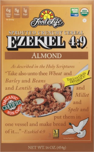 Food for Life Ezekiel 4:9 Almond Cereal Perspective: front