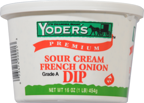 Pay Less Super Markets - Yoder's Sour Cream French Onion Dip, 16 Oz
