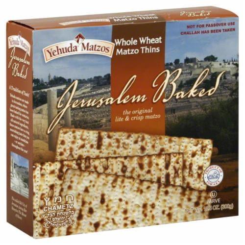 Yehuda Jerusalem Baked Whole Wheat Matzo Thins Perspective: front