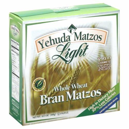 Yehuda Light Whole Wheat Bran Matzos Perspective: front