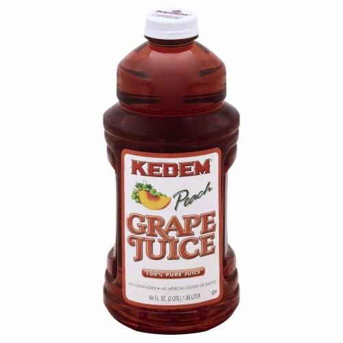 Kedem Peach Grape Juice Perspective: front