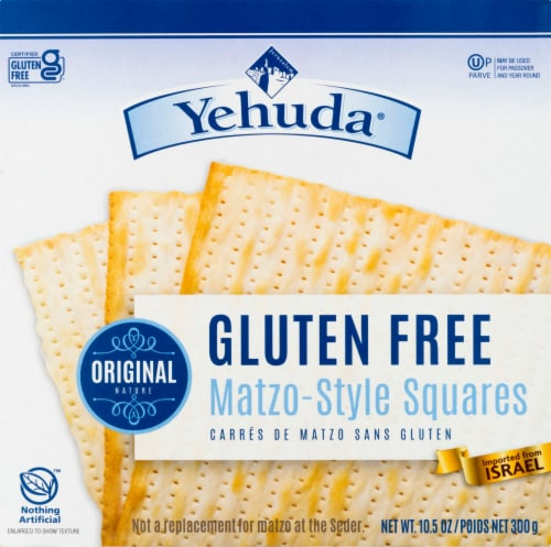 Yehuda Gluten Free Matzo-Style Squares Perspective: front