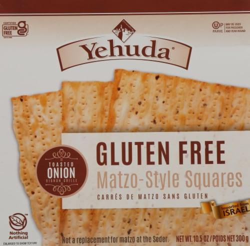 Yehuda Gluten Free Toasted Onion Matzo Perspective: front