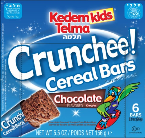 Kedem Kids Chocolate Crunchee! Cereal Bars Perspective: front