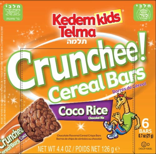 Kedem Kids Coco Rice Crunchee! Cereal Bars Perspective: front
