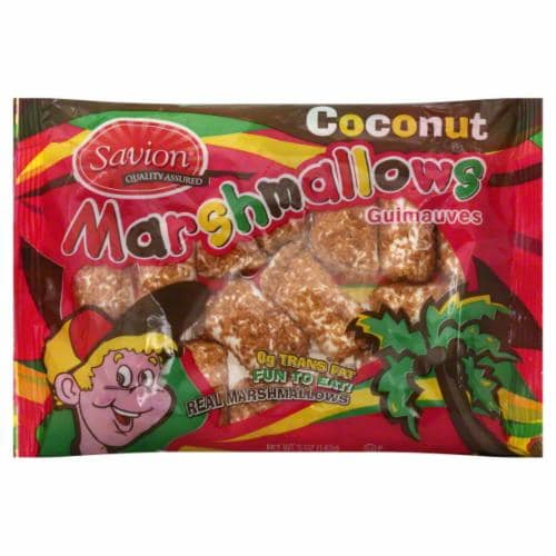 Savion Toasted Coconut Marshmallows Perspective: front