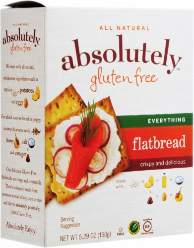 Absolutely Gluten Free Everything Flatbread Perspective: front
