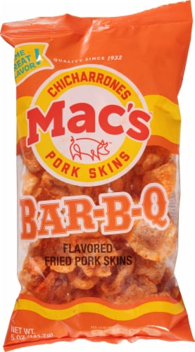 Mac's Bar-B-Q Flavored Pork Skins Perspective: front