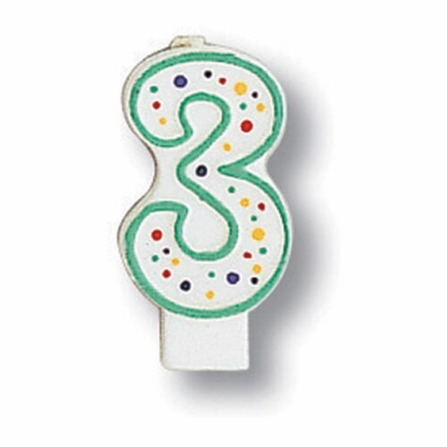 James Paul Products Number 3 Party Candle Perspective: front
