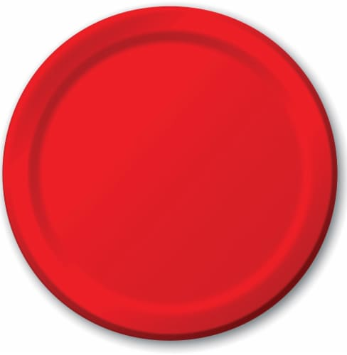 Creative Converting 9-Inch Dinner Plates - Classic Red Perspective: front