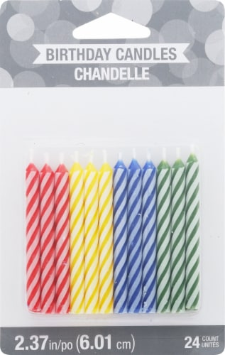 James Paul Products Striped Candle Perspective: front