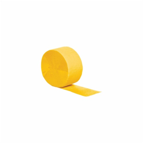 Creative Converting Everyday Party Streamer - Yellow Perspective: front
