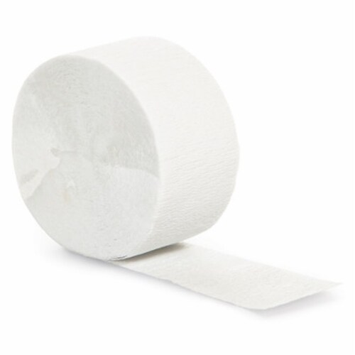 James Paul Products Party Streamer - Crepe White Perspective: front