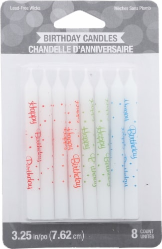 James Paul Products Happy Birthday Candles Perspective: front