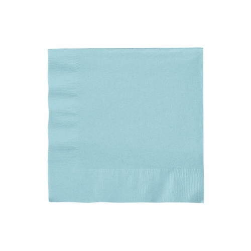 Creative Converting 233429 Pastel Blue- Light Blue Lunch Napkins Perspective: front