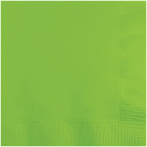 Creative Converting Lunch Napkins - Lime Green Perspective: front