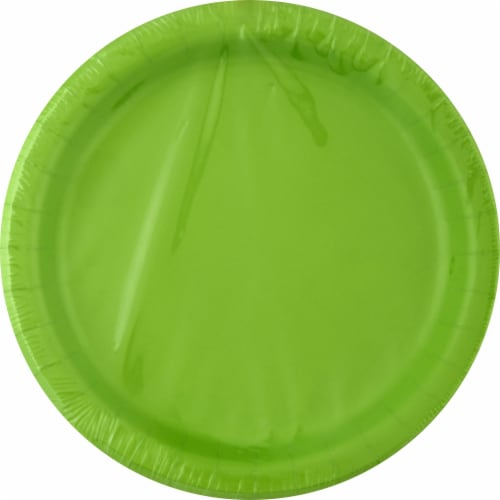 Creative Converting Paper Plates - 24 pk - Lime Green Perspective: front
