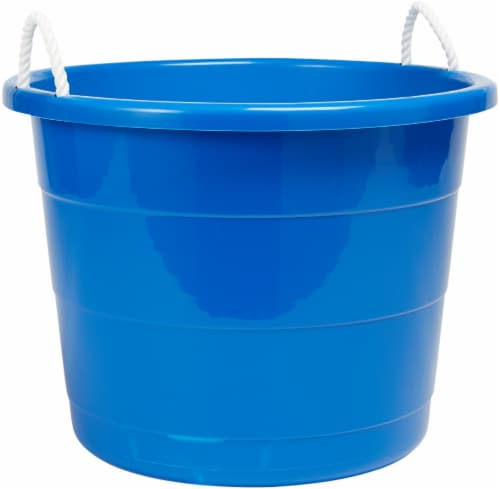 Homz Rope Handled Tub - Blue Perspective: front