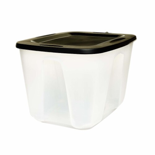 Homz Storage Container with Lid - Clear/Black Perspective: front