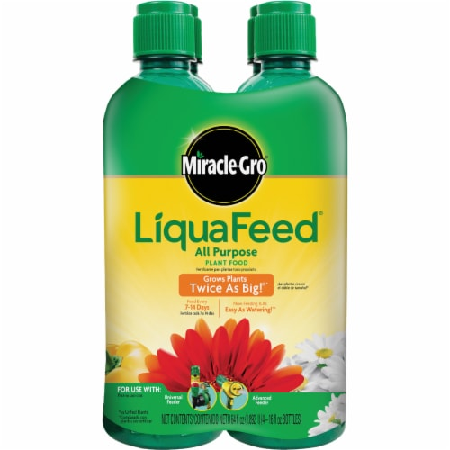 Miracle-Gro LiquaFeed All Purpose Plant Food Refill Bottles Perspective: front