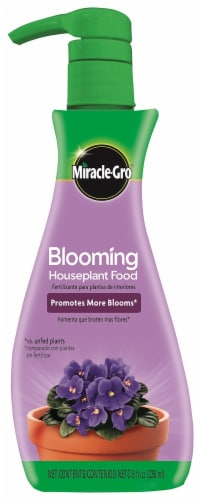 Miracle-Gro Blooming Houseplant Food Perspective: front