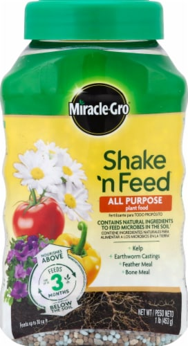 Miracle-Gro Shake 'n Feed All Purpose Plant Food Perspective: front