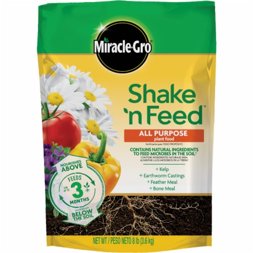 Miracle-Gro Shake n Feed All Purpose Continuous Release Plant Food Refill Bag Perspective: front