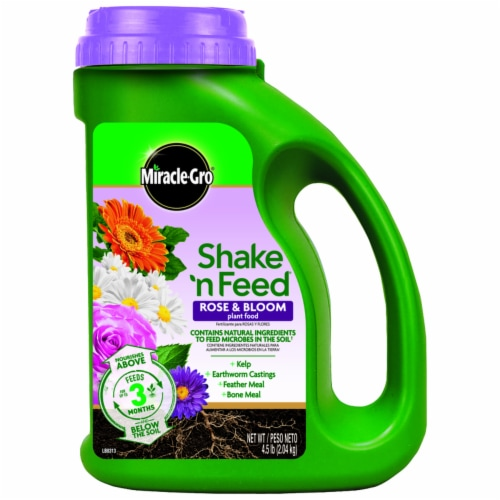 Miracle-Gro Shake n Feed Rose & Bloom Continuous Release Plant Food Perspective: front