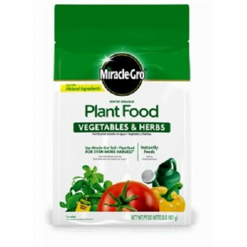 Scotts Miracle Gro 249538 2 lbs Water Soluble Vegetables & Herbs Plant Food Perspective: front