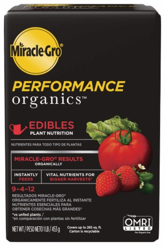 Miracle-Gro Performance Organics Edibles Plant Nutrition Perspective: front