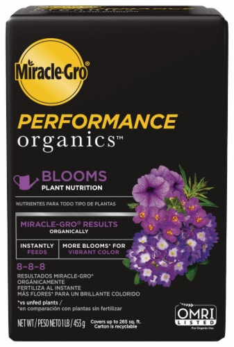 Miracle-Gro Performace Organics Blooms Plant Nutrition Perspective: front