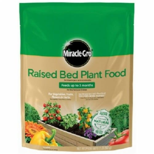 Scotts Miracle Gro 249540 2 lbs Raised Bed Plant Food Perspective: front