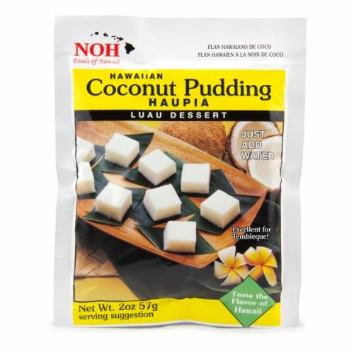 NOH of Hawaii Hawaiian Coconut Pudding Mix Perspective: front